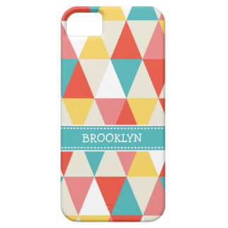 Festive Retro Geometric iPhone Barely There iPhone 5 Case