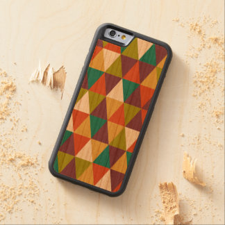 Festive Retro Geometric Wood  iPhone 6 Cherry iPhone 6 Bumper Case