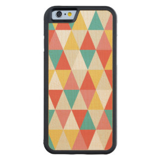 Festive Retro Geometric Wood iPhone 6 Maple iPhone 6 Bumper Case