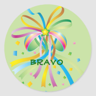 Festive Ribbon Bravo Sticker