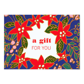 Festive Salon and Spa Holiday Gift Certificate 11 Cm X 16 Cm Invitation Card