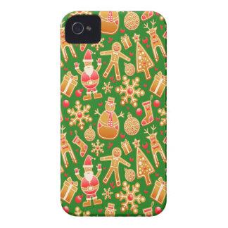 Festive Santa and Snowman Gingerbread Case-Mate iPhone 4 Case