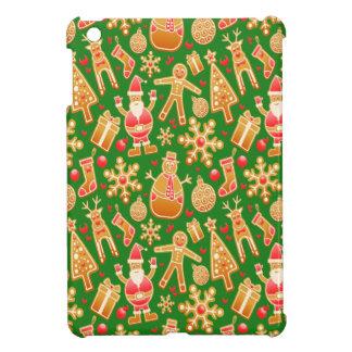 Festive Santa and Snowman Gingerbread Cover For The iPad Mini