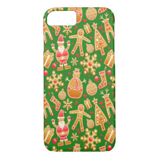 Festive Santa and Snowman Gingerbread iPhone 8/7 Case