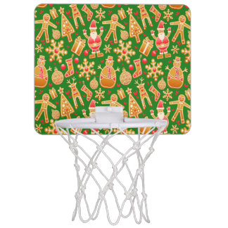 Festive Santa and Snowman Gingerbread Mini Basketball Hoop