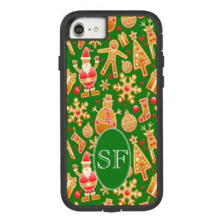 Festive Santa and Snowman Gingerbread Monogram Case-Mate Tough Extreme iPhone 8/7 Case