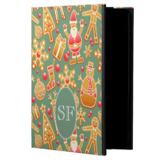 Festive Santa and Snowman Gingerbread Monogram Powis iPad Air 2 Case