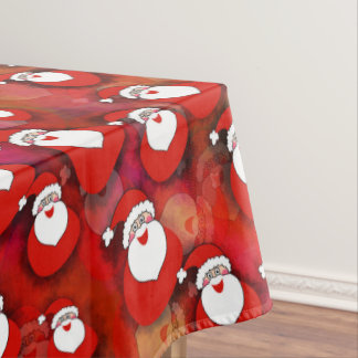 Festive Santa Claus Pattern Tablecloth