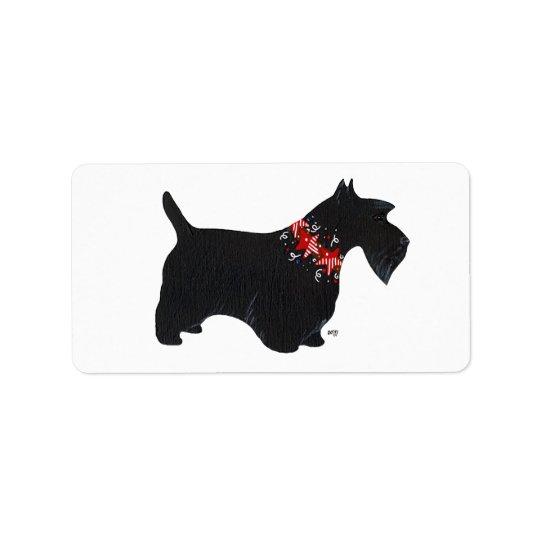 Festive Scottie Stickers! Label