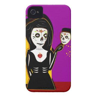 Festive Skull iPhone 4 Case-Mate Case