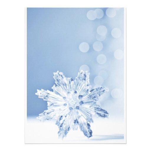 Festive snowflake holidays invite