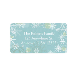Festive Snowflakes Address Label