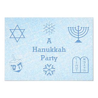 Festive Sparkle Custom HANUKKAH Holiday Party 13 Cm X 18 Cm Invitation Card