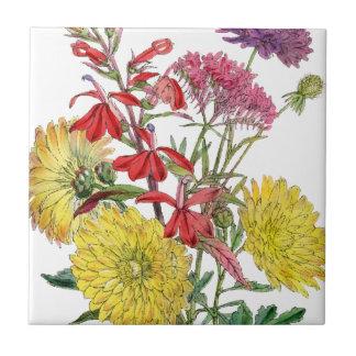 Festive Sring Floral Gifts Ceramic Tile