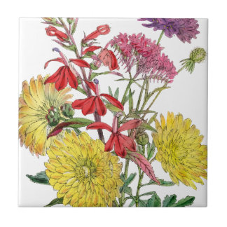Festive Sring Floral Gifts Small Square Tile