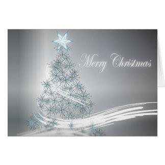 Festive Star Chic Christmas Evergreen Greeting Card