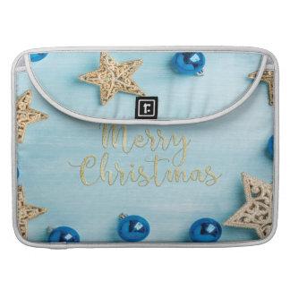 Festive Stars Baubles Merry Christmas Glitter MacBook Pro Sleeves