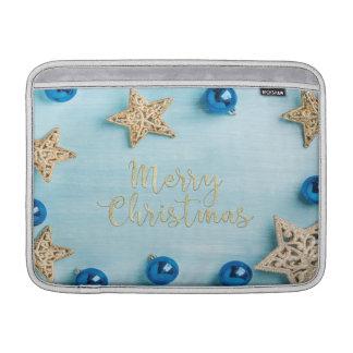 Festive Stars Baubles Merry Christmas Glitter Sleeves For MacBook Air