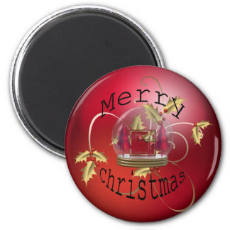 Festive Timmings 6 Cm Round Magnet