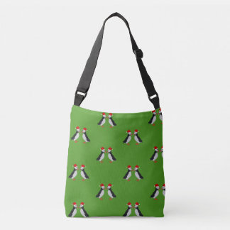 Festive twin puffins Christmas tote