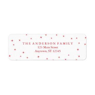 Festive Type Merry Christmas Address Labels