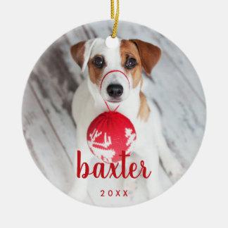 Festive Type | Pet Photo Ceramic Ornament