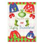 Festive Ugly Christmas Sweater Party Invitation 13 Cm X 18 Cm Invitation Card