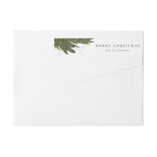 Festive Watercolor Return Address Labels