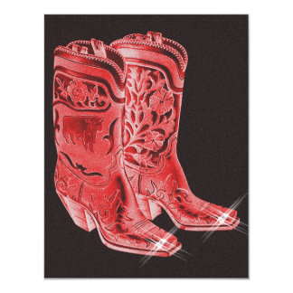 Festive Western Cowboy Boots Party Invitations