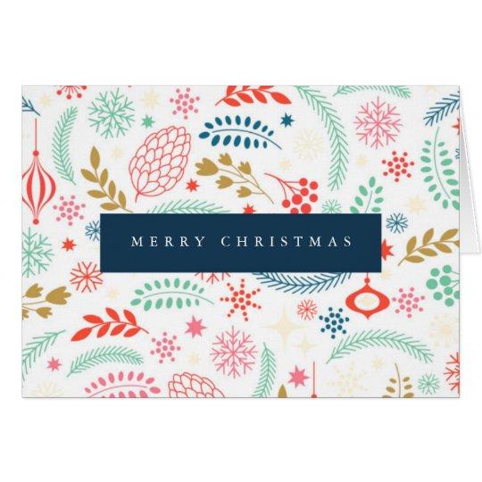 Festive Winter Christmas Card