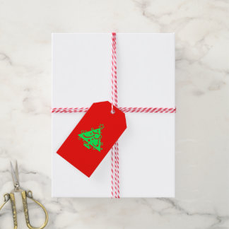 Festive Xmas Tress 4Curtiss Gift Tags