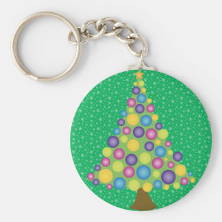 Festive Yule Tree Keychains
