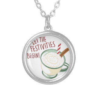 Festivities Begin Silver Plated Necklace