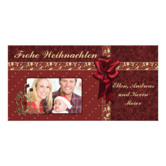 Festliches Weihnachts Design Photo Card Template