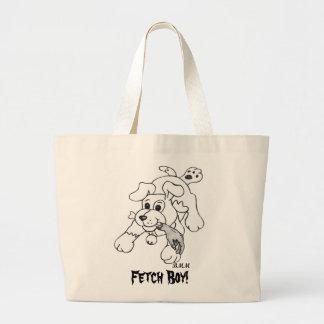 Fetch Boy Large Tote Bag