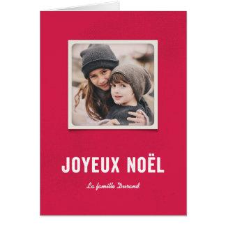 Fête de Noël Card