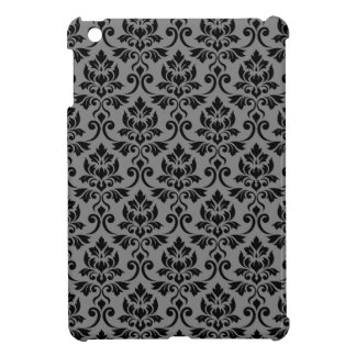 Feuille Damask Pattern Black on Gray Cover For The iPad Mini