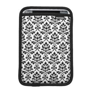 Feuille Damask Pattern Black on White iPad Mini Sleeve