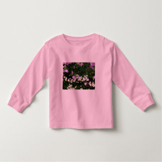 Feverfew and Wild Geranium Flowers Toddler T-Shirt