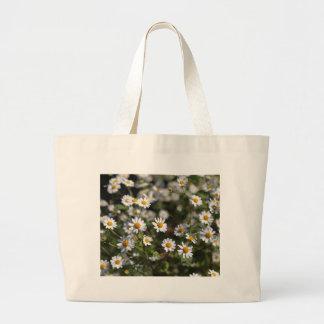 Feverfew Flowers (Tanacetum parthenium). Large Tote Bag