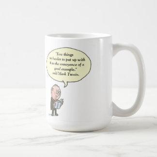 Few things are harder to put up. Mark Twain Classic White Coffee Mug
