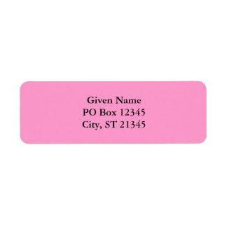 FF99CC Pink Return Address Label