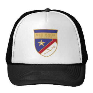 FF-1052 USS Knox Military Patch Destroyer Insignia Trucker Hats