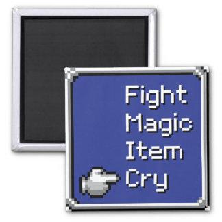 FF Menu magnet - Fight/Magic/Item/Cry