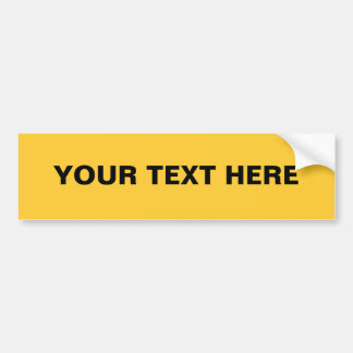 FFCC33 Solid Yellow Background Color Bumper Sticker