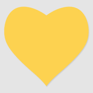 FFCC33 Solid Yellow Background Color Heart Sticker
