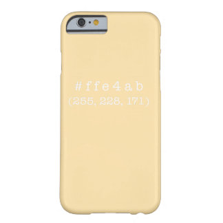 #ffe4ab iPhone 6/6s, Barely There (White) Barely There iPhone 6 Case
