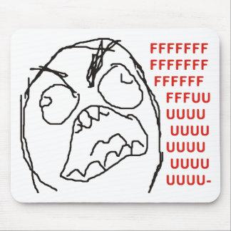 FFFFFFFUUUUUU - Rage! Mousepad