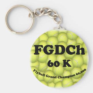FGDCh 60 K, Flyball Grand Champ, 60,000 Points Key Ring