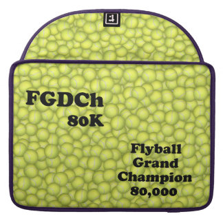 FGDCh 80 K, Flyball Grand Champ, 80,000 Points Sleeve For MacBook Pro